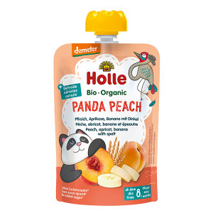 Holle Organic Baby Food Pouch - Panda Peach